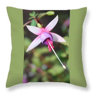 Fuchsia Showing Off In All Its Glory Throw Pillow
