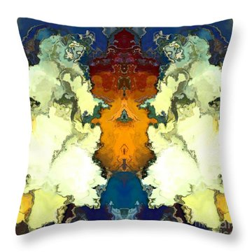 Throw Pillow featuring the digital art Fuego  by A z Mami