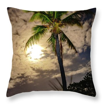 Full Moon Palm Throw Pillow