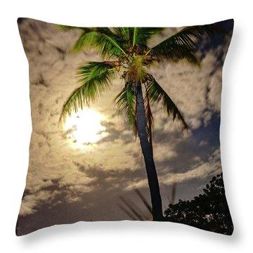 Full Moon Palm Throw Pillow