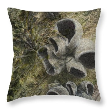 Fungi And Algae Throw Pillow