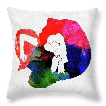 Gaga Watercolor Throw Pillow