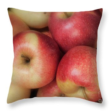 Throw Pillow featuring the photograph Gala Apples by Ann Jacobson