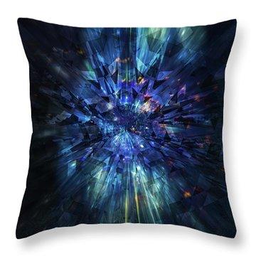 Galactic Crystal Throw Pillow