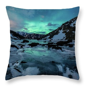 Throw Pillow featuring the photograph Gale-force Aurora H by Tim Newton