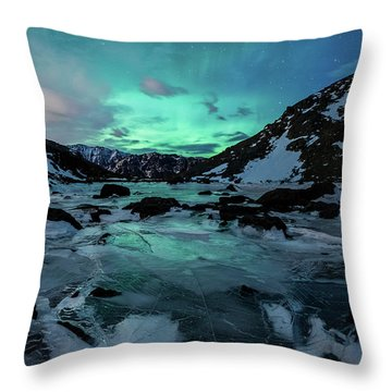 Throw Pillow featuring the photograph Gale-force Aurora V by Tim Newton