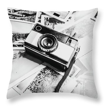 Gallery In Monochrome Throw Pillow