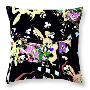 Game Of Illusion Throw Pillow