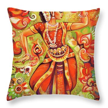 Ganges Flower Throw Pillow