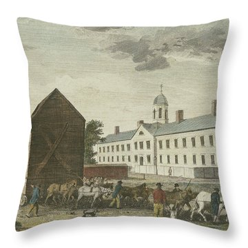 Gaol In Walnut Street Throw Pillow