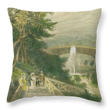 Garden At Fairmount Throw Pillow