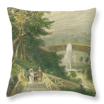 Garden At Fairmount Throw Pillow