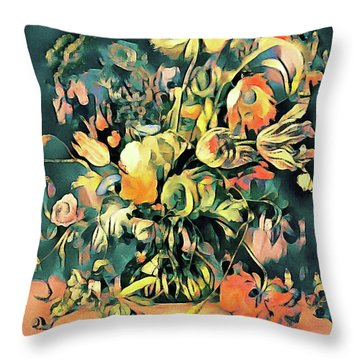 Throw Pillow featuring the painting Garden Bounty by Susan Maxwell Schmidt