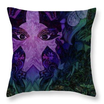Garden Eyes Throw Pillow