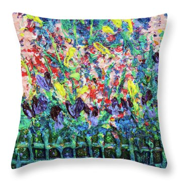 Garden Gems Throw Pillow