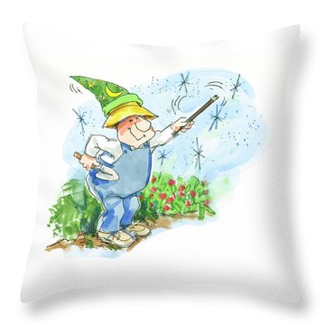 Garden Magic Throw Pillow