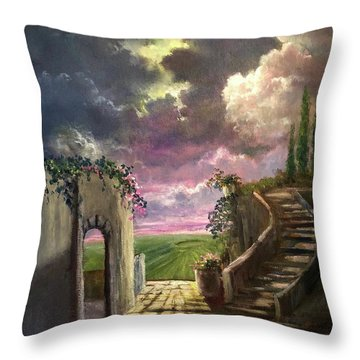 Garden Of The Ancients Throw Pillow
