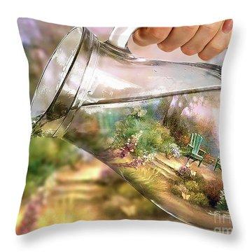 Garden Reflections Throw Pillow