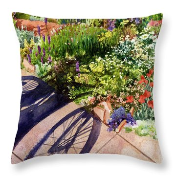 Garden Shadows II Throw Pillow