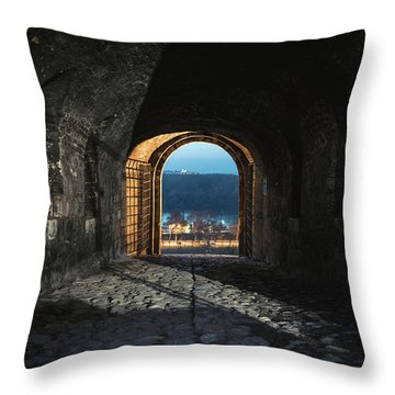 Gate At Kalemegdan Fortress, Belgrade Throw Pillow
