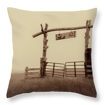 Gate In The Wilderness Throw Pillow
