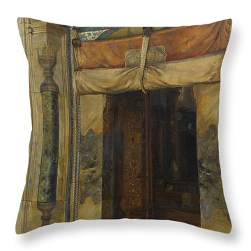 Gate Of Sultan Selim II's Tomb, 1909 Throw Pillow