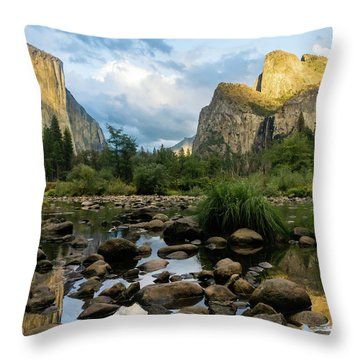 Gates Of The Valley 3 Throw Pillow