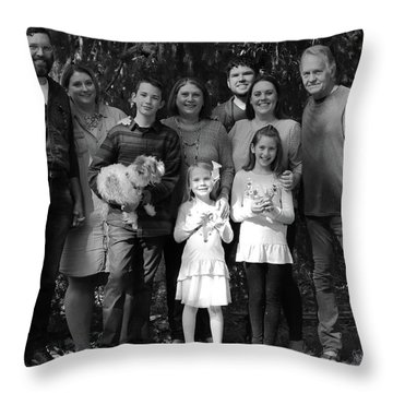 Gathering Under The Trees Throw Pillow