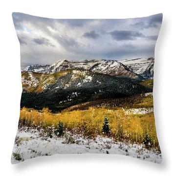 Throw Pillow featuring the photograph Gathering Storm by TL Mair