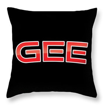 Throw Pillow featuring the digital art Gee by TintoDesigns