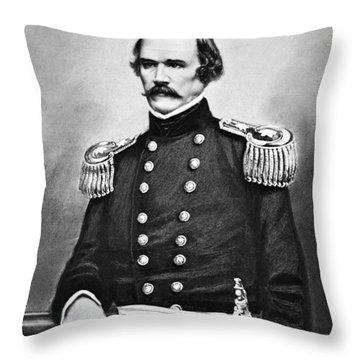 General Albert Sidney Johnston Portrait Throw Pillow