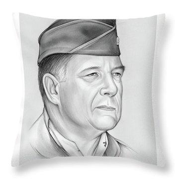 General Chuck Horner Throw Pillow