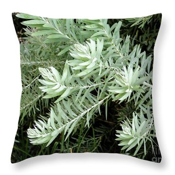 Gentle Leaves Throw Pillow