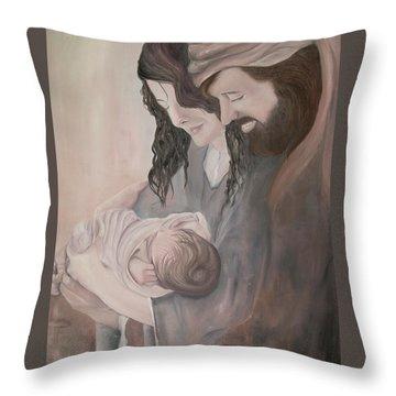 Gentle Savior Throw Pillow