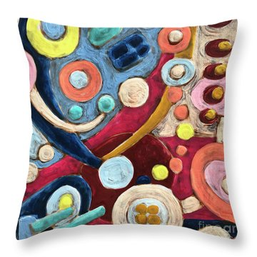 Geometric Abstract 2 Throw Pillow