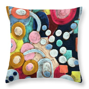 Geometric Abstract 3 Throw Pillow