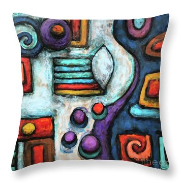 Geometric Abstract 5 Throw Pillow