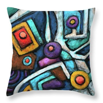 Geometric Abstract 6 Throw Pillow
