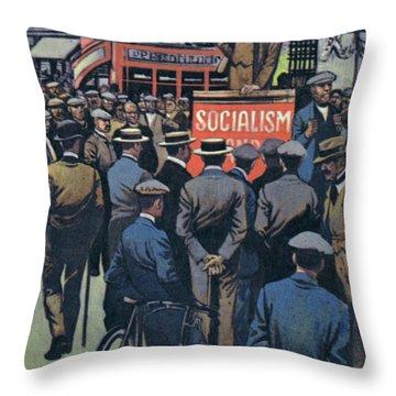George Bernard Shaw Preaching The Great Idea Of Socialism Throw Pillow