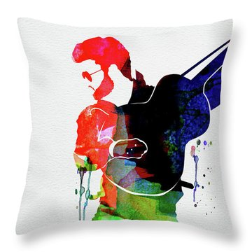 George Watercolor Throw Pillow