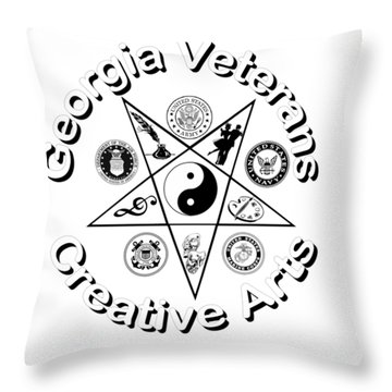 Georgia Veterans Creative Arts Throw Pillow