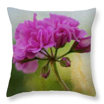 Geranium Rain  Throw Pillow
