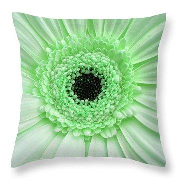 Gerber Rainbow Green Throw Pillow
