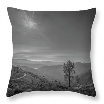 Throw Pillow featuring the photograph Geres - One Tree by Bruno Rosa