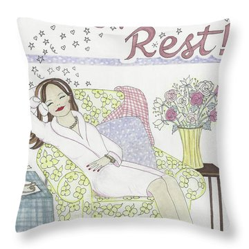 Get Some Rest Throw Pillow