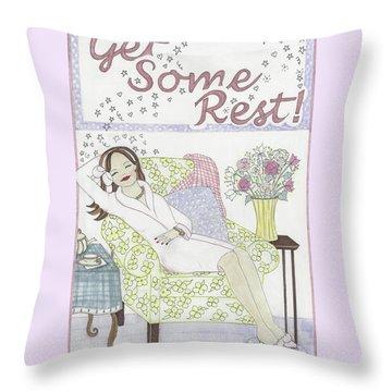 Get Some Rest Throw Pillow