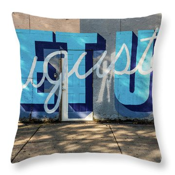 Get Up Augusta Ga Mural  Throw Pillow