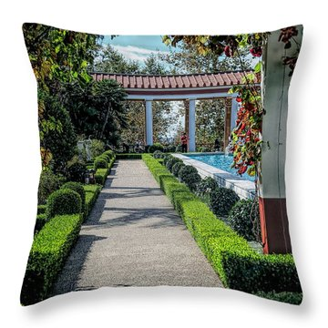 Getty Villa Pathway California  Throw Pillow