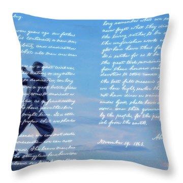 Gettysburg Address 72nd Pennsylvania Infantry Throw Pillow