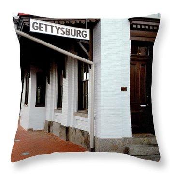 Gettysburg Railroad Station Throw Pillow